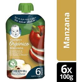 Compota GERBER® Orgánico Manzana Pouch