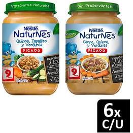 Picado NATURNES® Carne Quínoa Zapallito y Verduras 215g X12 Frascos