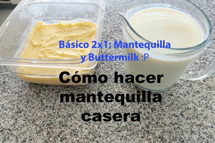 como hacer mantequilla casera